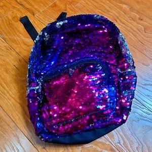 Stylelabgirl sequin girls backpack